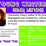 Join Charmaine Clancy in a writing event just for kids